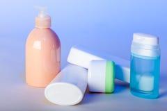 皮肤的关心产品 免版税库存图片