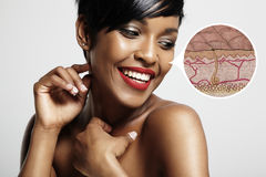 皮肤的皮肤结构 免版税库存图片