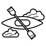 皮船和桨象 向量例证