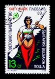 皮船,独木舟世界冠军serie,大约1989年 免版税库存图片