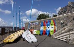 皮船Brixham Torbay德文郡Endland英国 免版税库存照片