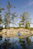 镇静平静的北湖 免版税图库摄影