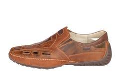 皮革人s鞋子 免版税图库摄影