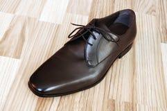 皮革人s鞋子 库存图片