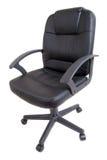 黑皮革办公室椅子 免版税图库摄影