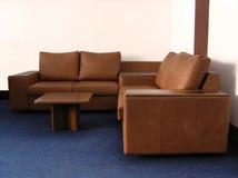 皮革办公室沙发 图库摄影