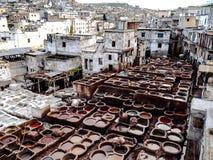 皮革厂马拉喀什 库存照片