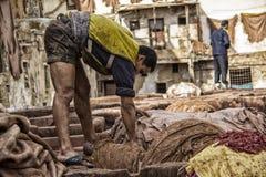 皮革厂 免版税库存图片