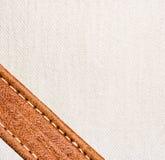 皮革和纺织品背景 免版税库存图片