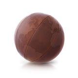 皮革地球3D例证北部和南美映射 免版税图库摄影