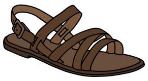 皮革妇女的凉鞋 免版税库存图片