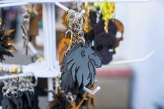 皮革小装饰品狮子 免版税图库摄影