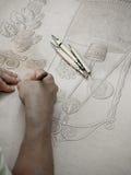 皮革工匠工作 Cordoban皮革装璜样式 免版税库存图片