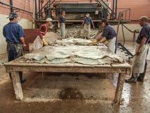 皮革工厂 免版税库存照片