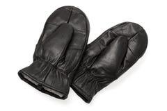 皮革手套 免版税库存图片