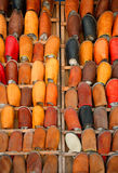 皮革摩洛哥鞋子 免版税库存图片