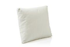 皮革枕头白色 免版税图库摄影
