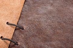 皮革样品 免版税库存图片