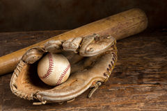 皮革棒球手套 免版税图库摄影