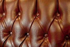 皮革沙发细节 免版税库存图片