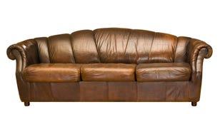 皮革沙发 免版税库存图片