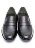 皮革精神鞋子 免版税图库摄影