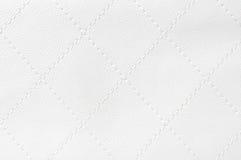 皮革缝制的白色 库存照片