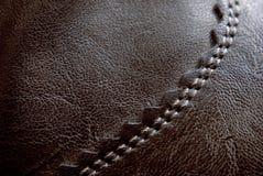 皮革缝 免版税库存图片