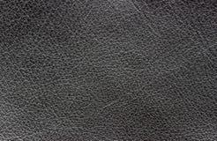 黑皮革背景 免版税图库摄影