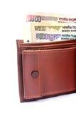 皮革钱包 免版税库存图片