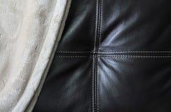 皮革&毯子 免版税库存图片