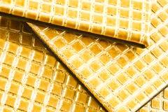 皮革placemats 免版税库存图片