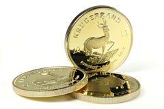 1盎司金锭硬币 图库摄影
