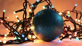 4盏圣诞灯 库存图片