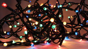 2盏圣诞灯 图库摄影