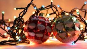 3盏圣诞灯 库存照片