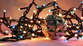 8盏圣诞灯 免版税图库摄影