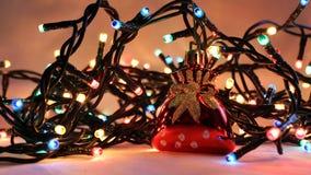 6盏圣诞灯 免版税库存图片