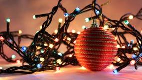 7盏圣诞灯 图库摄影