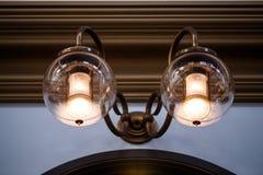 2盏灯点燃经典之作 免版税库存图片