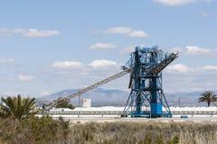 盐厂在圣波拉 免版税库存照片