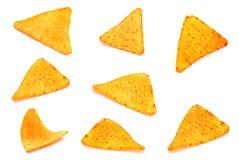 盐味的玉米快餐集合 免版税库存照片