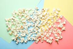 盐味的玉米花,顶视图 图库摄影