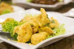 盐味的蛋大虾 免版税库存图片