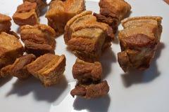 盐味的酥脆猪肉 库存图片