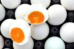 盐味的鸡蛋 免版税库存图片