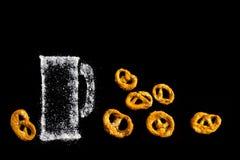 盐味的Brezel椒盐脆饼 免版税库存图片