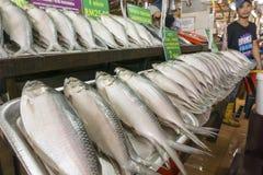 盐味的Terubok鱼卖主 免版税库存图片