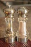 盐和胡椒 免版税库存照片