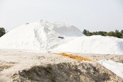 盐大量在盐海盐农场 库存图片